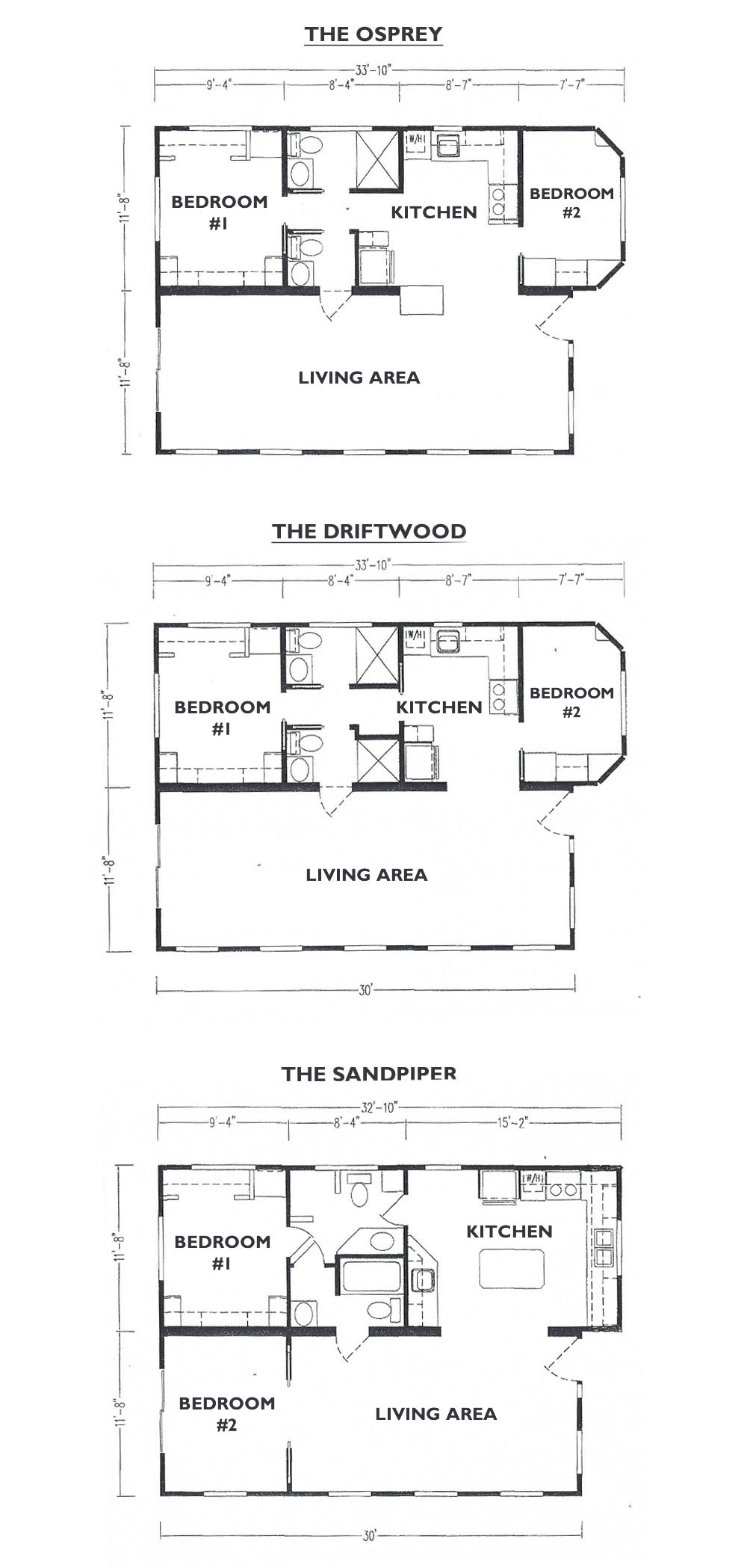 Cape Shores Resort Floor Plans